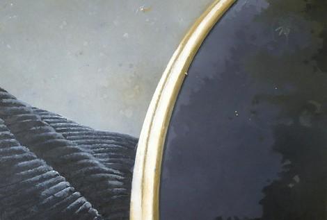 © Gérard Pétillat – Guéridon II – huile sur toile 116 x 89 cm