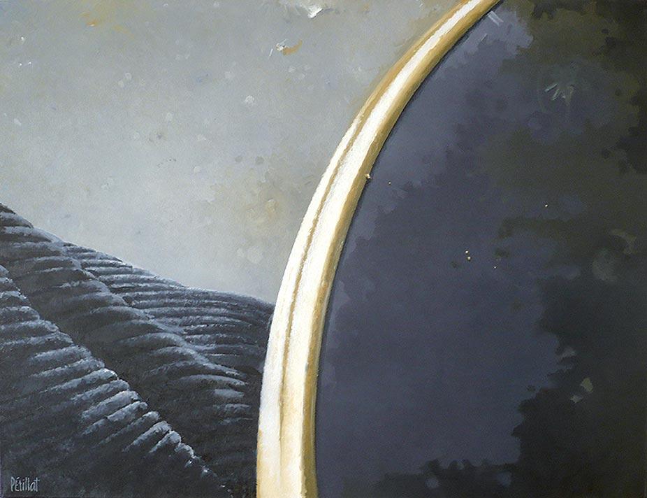 © Gérard Pétillat – Guéridon II – huile sur toile 89 x 116 cm