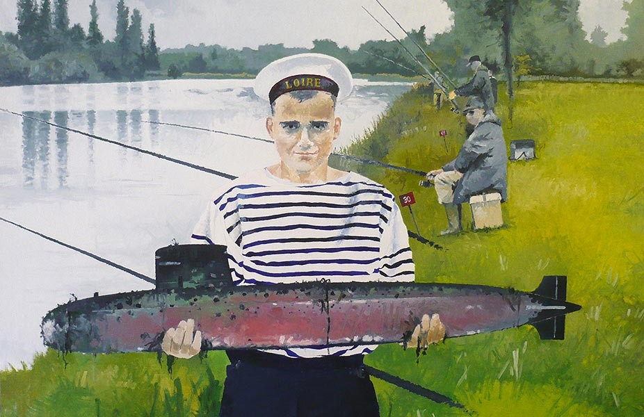 © Gérard Pétillat – Marin-pêcheur – Huile sur toile 100 x 73 cm
