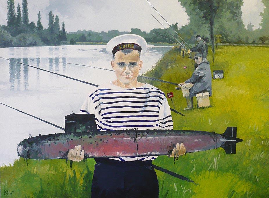 © Gérard Pétillat – Marin-pêcheur – Huile sur toile 73 x 100 cm