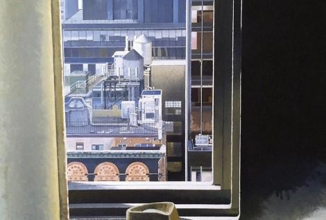 © Gérard Pétillat – NY Central Park Hotel – huile sur toile 81 x 100 cm