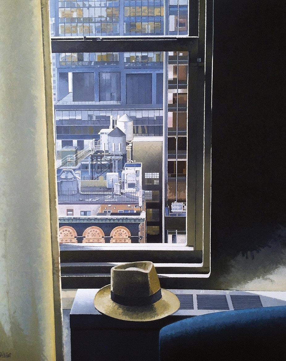 © Gérard Pétillat – NY Park Central Hotel – huile sur toile 100 x 81 cm