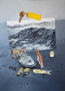 © Gérard Pétillat – Le Naufrage II – Huile sur toile 50 x 61 cm