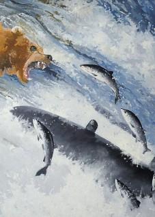© Gérard Pétillat – L'ours – Huile sur toile 116 x 89 cm