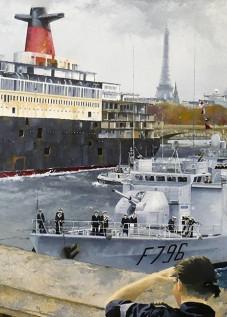 © Gérard Pétillat – Retour du France ... – Huile sur toile 116 x 81 cm