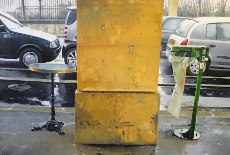 © Gérard Pétillat – Rivoli Park II – huile sur toile 116 x 81 cm