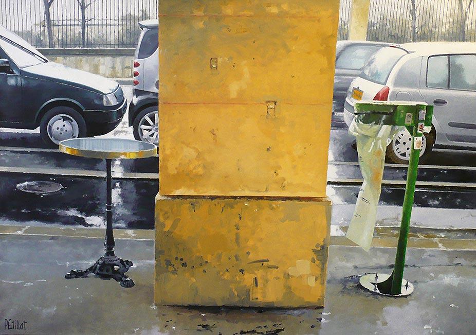 © Gérard Pétillat – Rivoli Park II – huile sur toile 81 x 116 cm