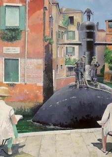 © Gérard Pétillat – Venise – Huile sur toile 130 x 89 cm