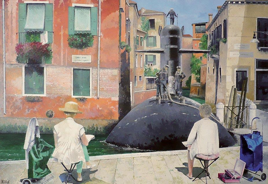 © Gérard Pétillat – Venise – Huile sur toile 89 x 130 cm