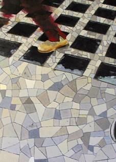© Gérard Pétillat – Basket – huile sur toile 100 x 81 cm