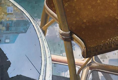 © Gérard Pétillat – Guéridon I – huile sur toile 65 x 54 cm