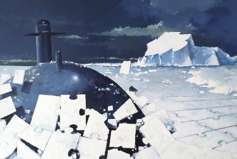 © Gérard Pétillat - Soum puzzle -détail- huile sur toile 97 x 130 cm